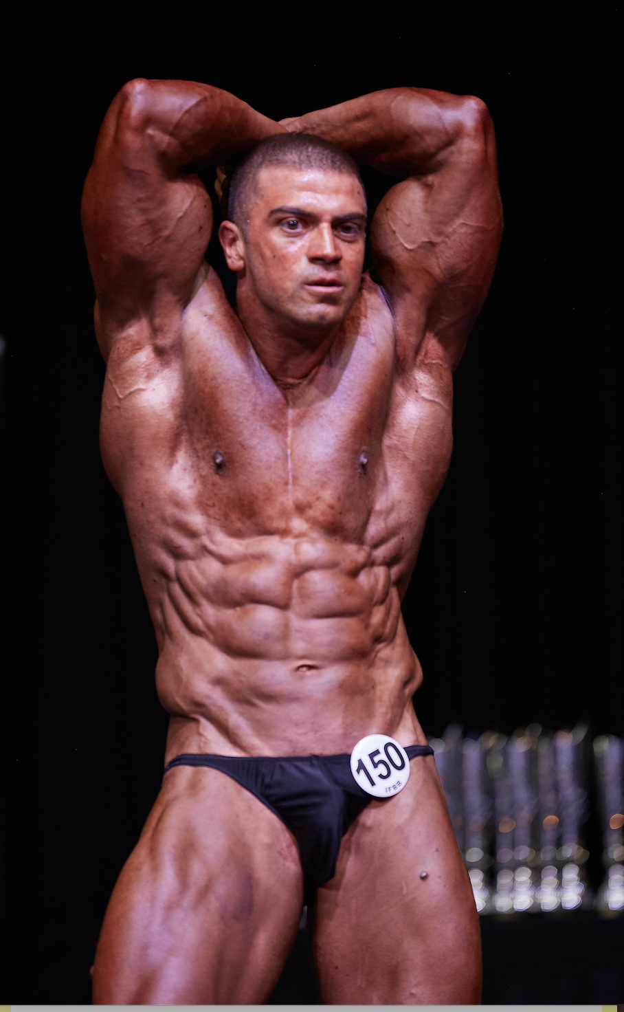 Teodor Dragoev, over 90 kg bodybuilding champion.