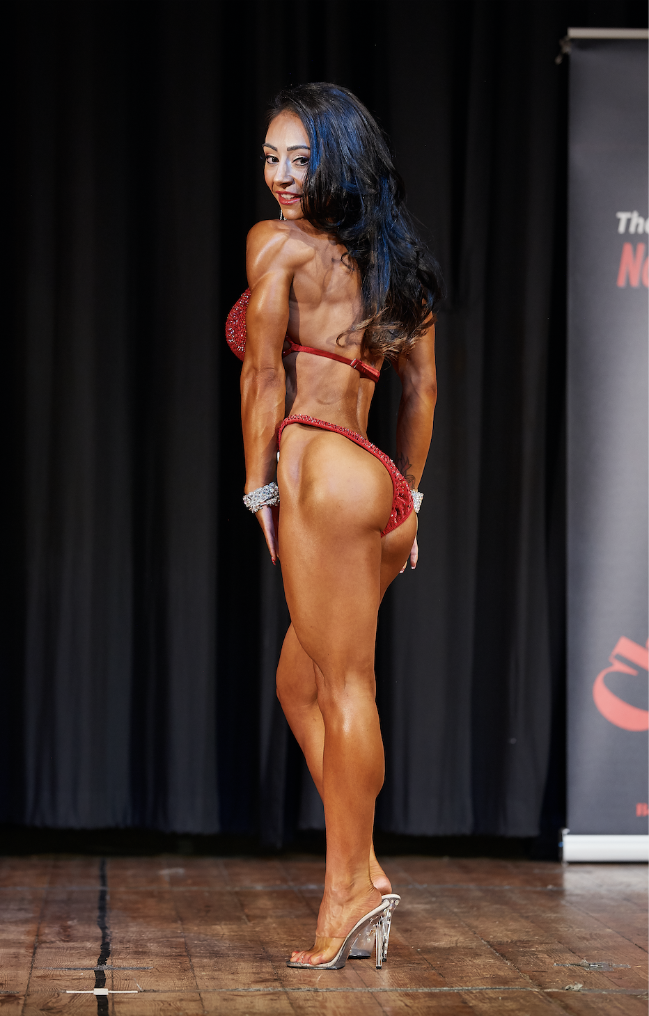 Chloe Greenwood, who won the up to 164 cm bikini fitness class.