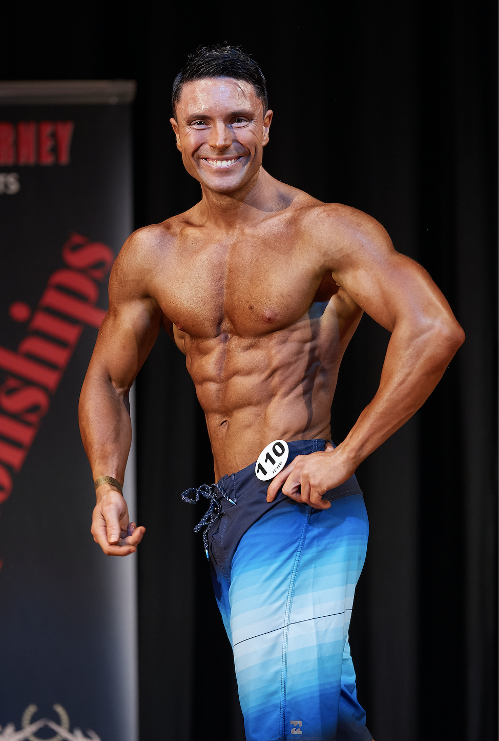 Nicola Rungo, winner of the up to 173 cm men's physique class.