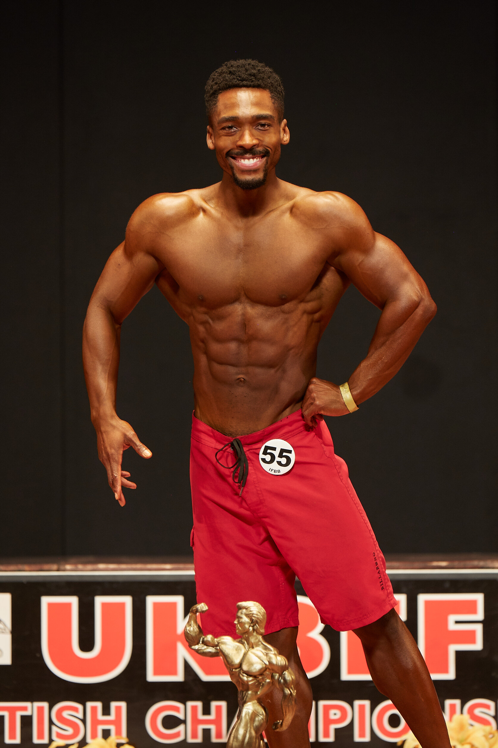 Aaron Daley, the overall men's physique champion.