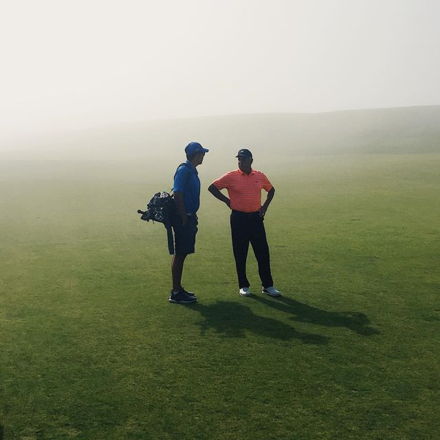 Fun round today at Kingsbarns. Started with some fog that made it impossible to see where your shots were going. Ended with a bunch of sunshine.