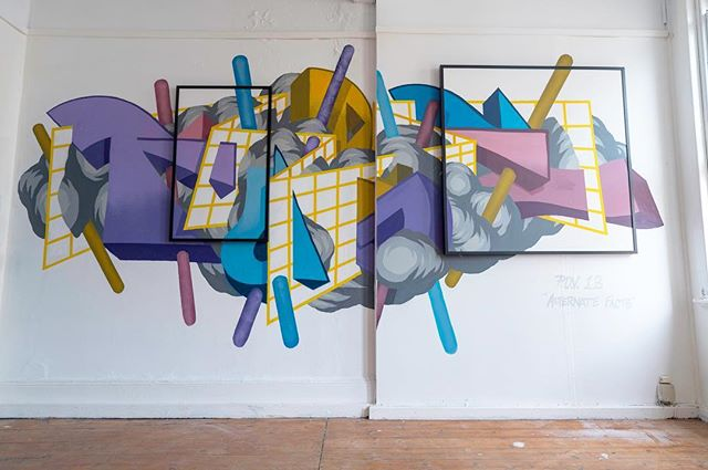 My finished work for #levelupstudios RESET launch party. Thanks to @levelupstudios for having me.