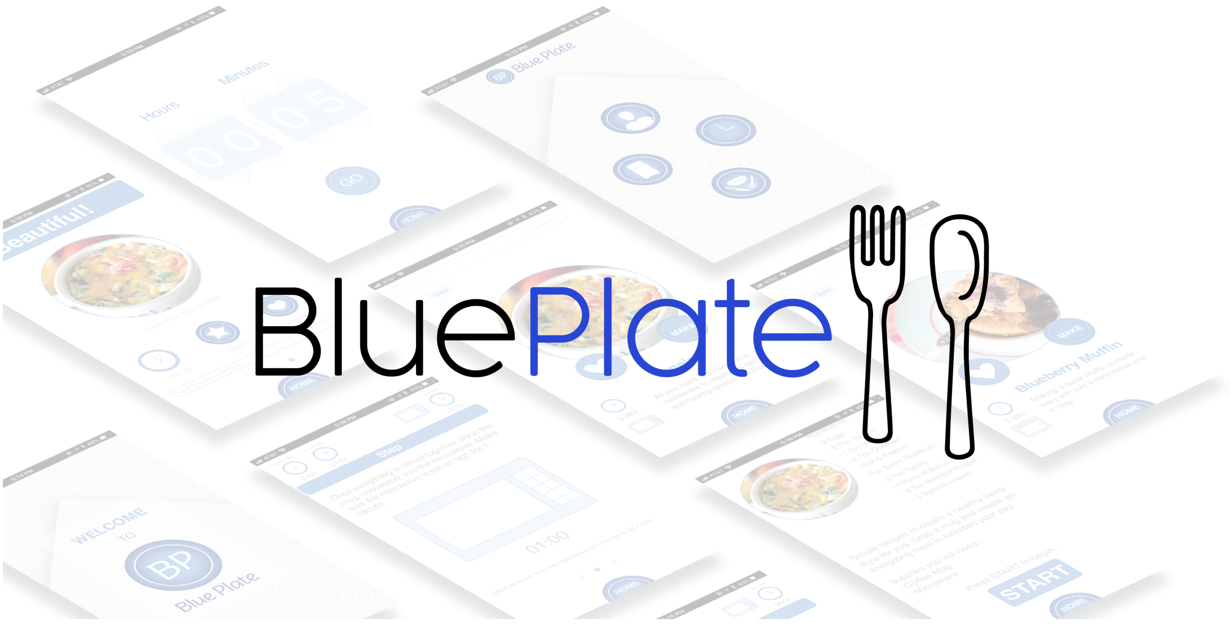 Blue Plate is  UX Research  and UI App Prototype created around the premises of a lack of time and knowledge to learn about healthy cooking.    Learn More →