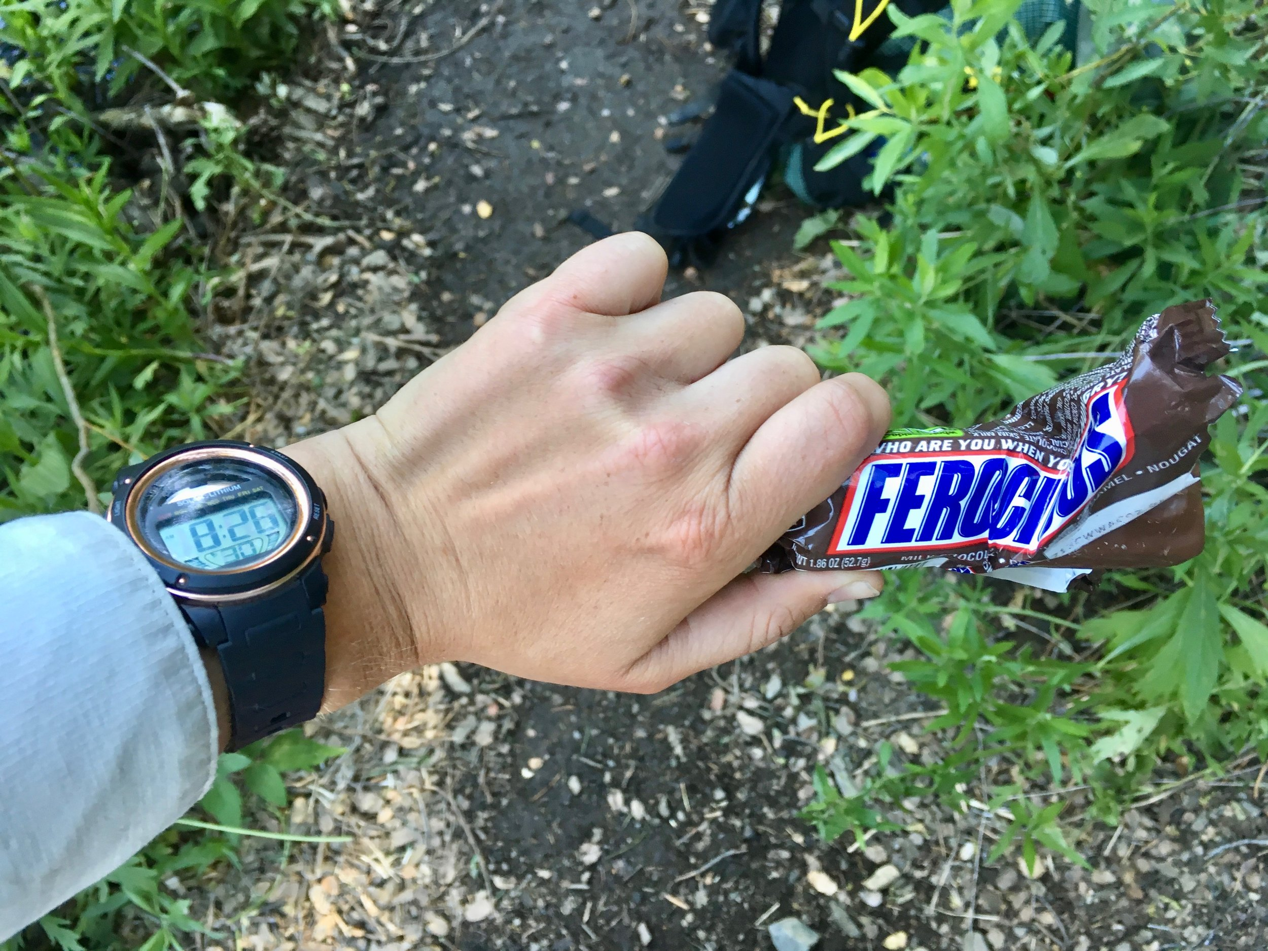 Eating a Snickers bar before 9am in Southern California