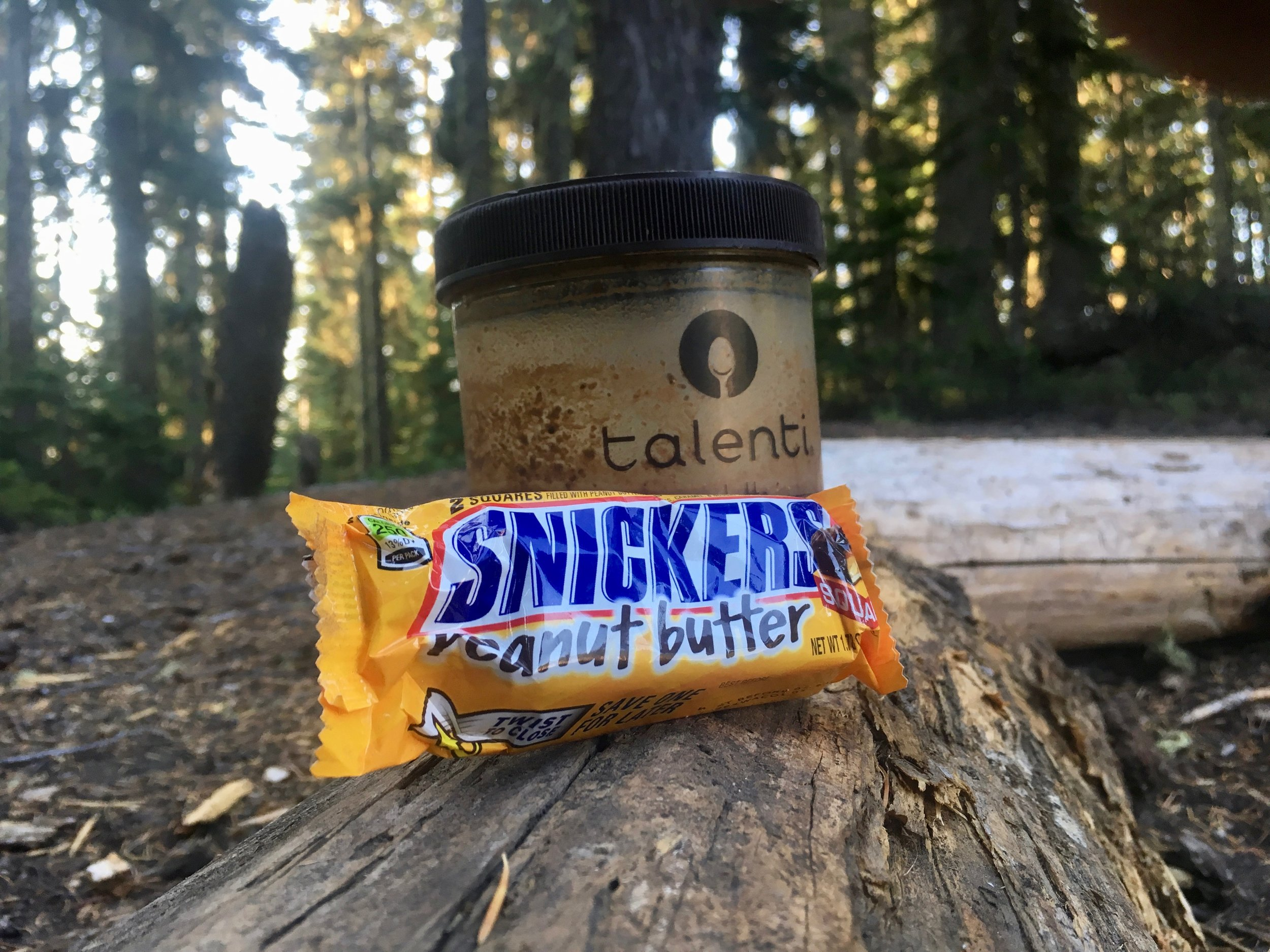 Coffee Break with Snickers Peanut Butter (Just now realizing that pictures are going to be difficult for this post because I was usually more focused on eating than snapping pictures of my food.)