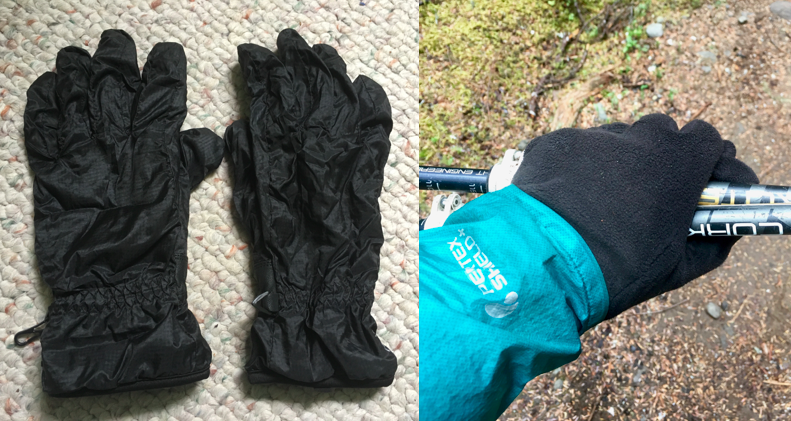 Left: What I sent home. Right: What I looked at when I desperately wanted my old gloves back.