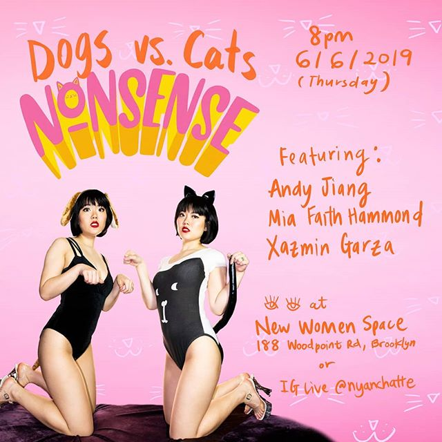 The age old debate is coming to Nonsense... Feat @miafaithhammond on Team Cat with @nyanchatte and @startswithanx + @andyjiang on Team Dog 😆😆