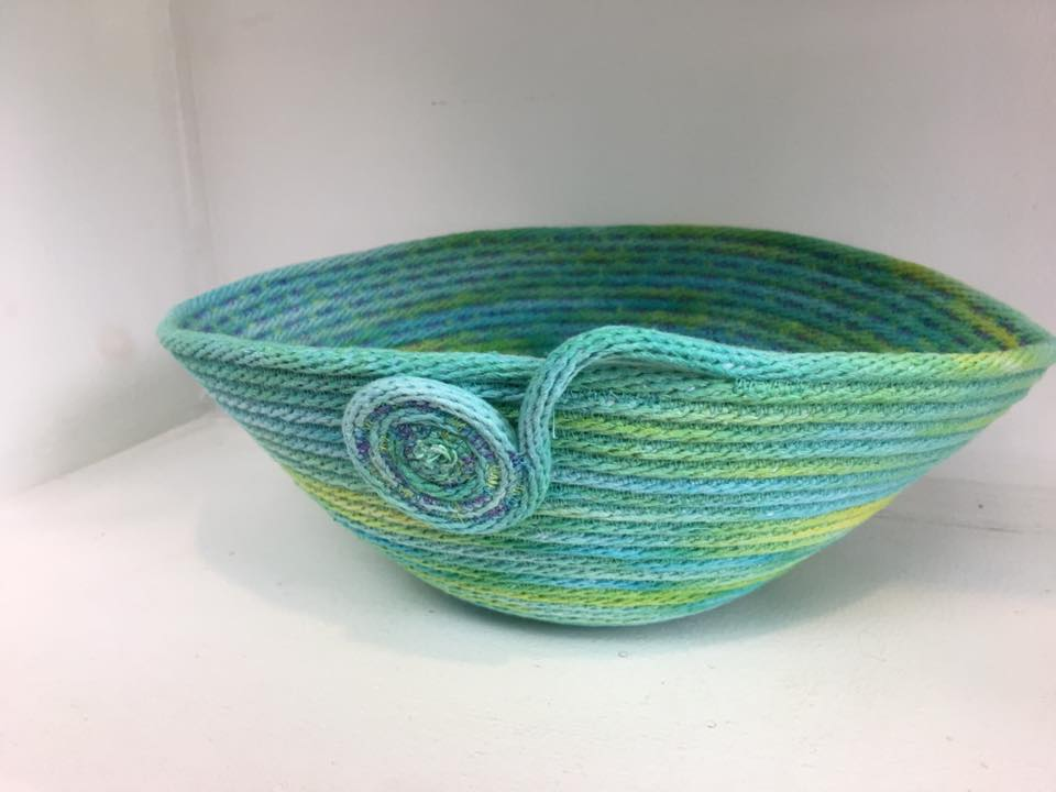 Art Home Accessories! - Fabric vessels and bowls, thread lace bowls and ornaments are available.