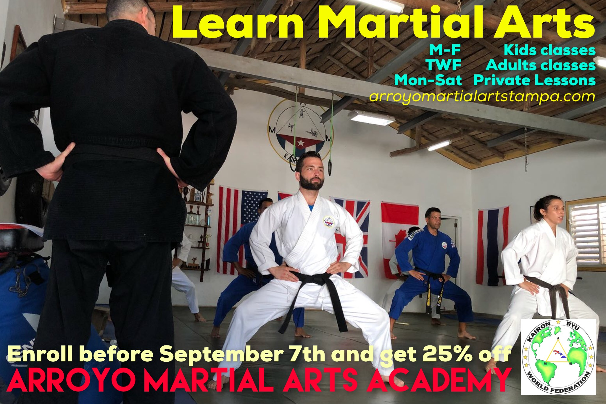 Our back to school promo is here! - Enroll today, and get a special 25% discount.See you at the dojo!