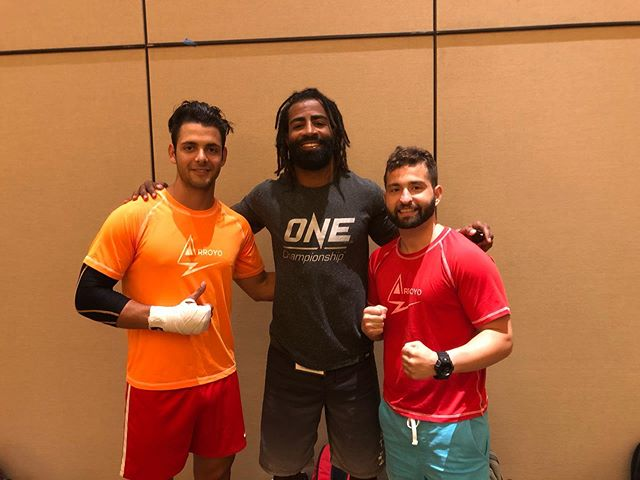 Here at the tournament with my student Robert @roberto.quintero, and we just saw Cosmos Alexander One Championship Pro Fighter. #fighting #fights #kickboxing #pro #amateur #mma #onechampionship #winner