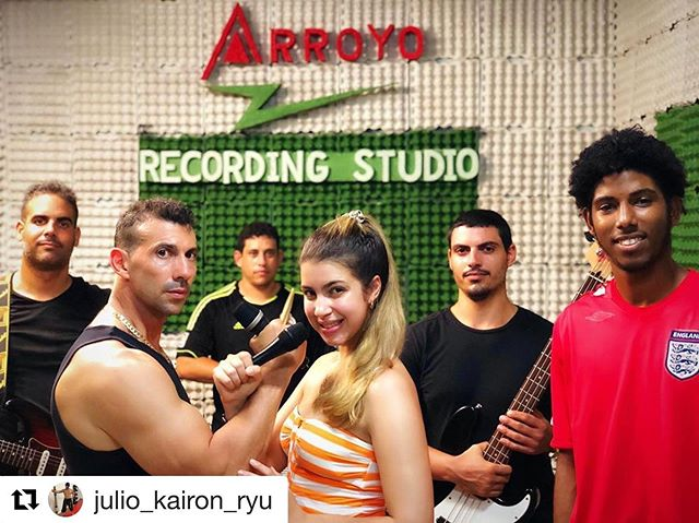 #Repost @julio_kairon_ryu with @get_repost ・・・ At the Arroyo Recording Studio in Cuba 🇨🇺 with few of the black belts #recordingstudio #recording #music #lovewhatyoudo #music #lifestyle #life #smile #sonrie #nevergiveup #letitgo #fly #neverregret #lookforward #vive #friends #canta #godhands #beyourself #behappy #focus #everythinghappensforareason #begrateful #kind #kindness