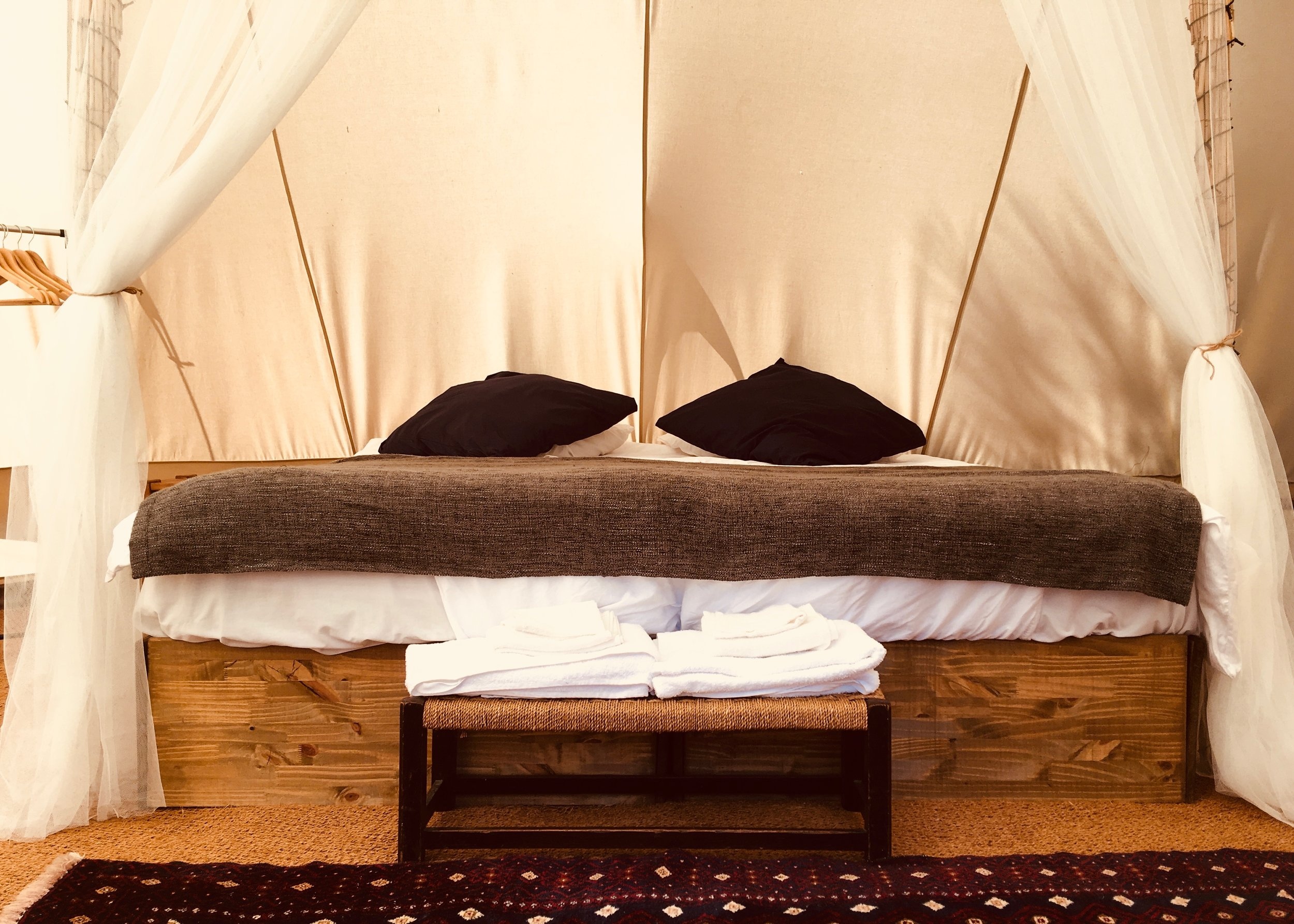 bed interior bell tent glamping sanctuary surf holiday.jpg