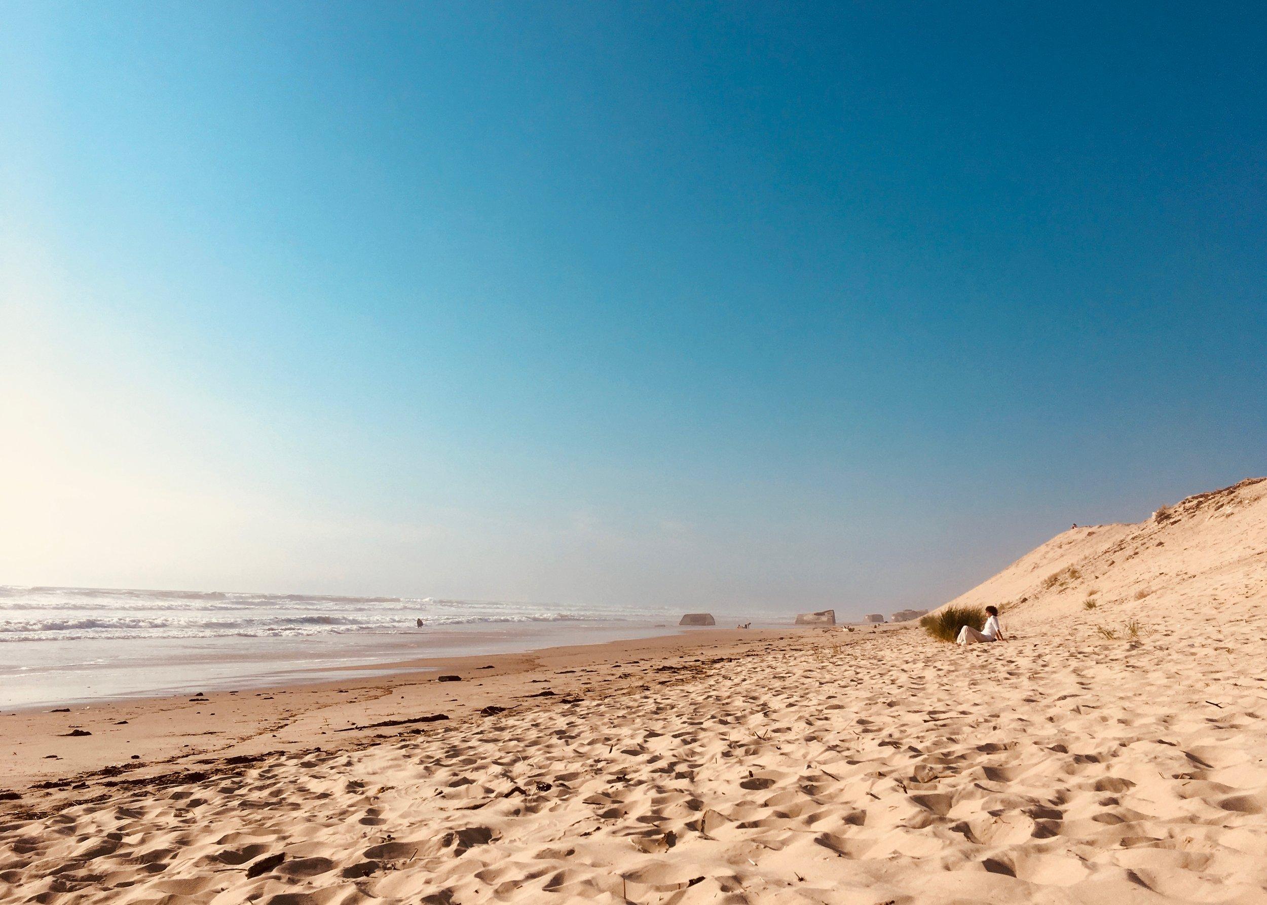 empty beach le pin sec sanctuary surf holiday.jpg