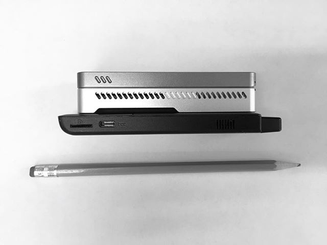 Our solution for portable single molecule DNA sequencing (fall 2016): nanopore MinION (top) device and Intel Compute Stick. Controlled with smartphone. Credit: C.E. Carr. #nanopore #DNA #Sequencing #Genomics #Hardware #Lab #Portable #Diagnostics #SingleMolecule #SETG #MIT
