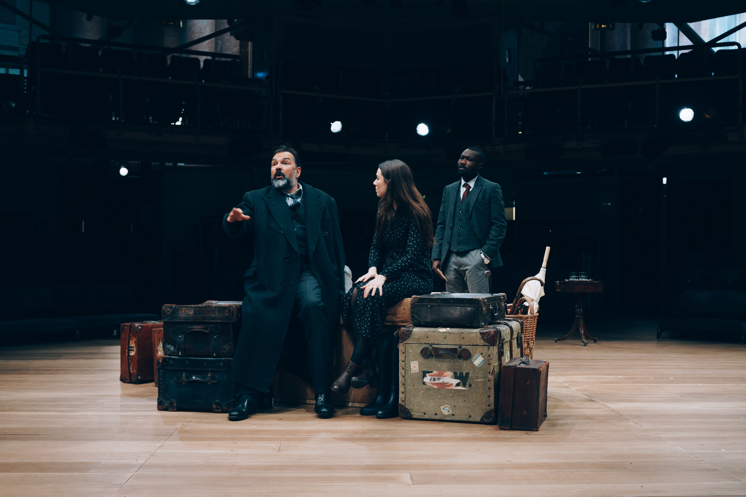 Royal Exchange Theatre - (l-r) Julius D'Silva (Boris Borisovich Simyonov-Pischik), Verity Blyth (Anya), Jude Owusu (Yermolai Alekseyevich Lopakhin - The Cherry Orchard. Image by Liam Bennett.jpg