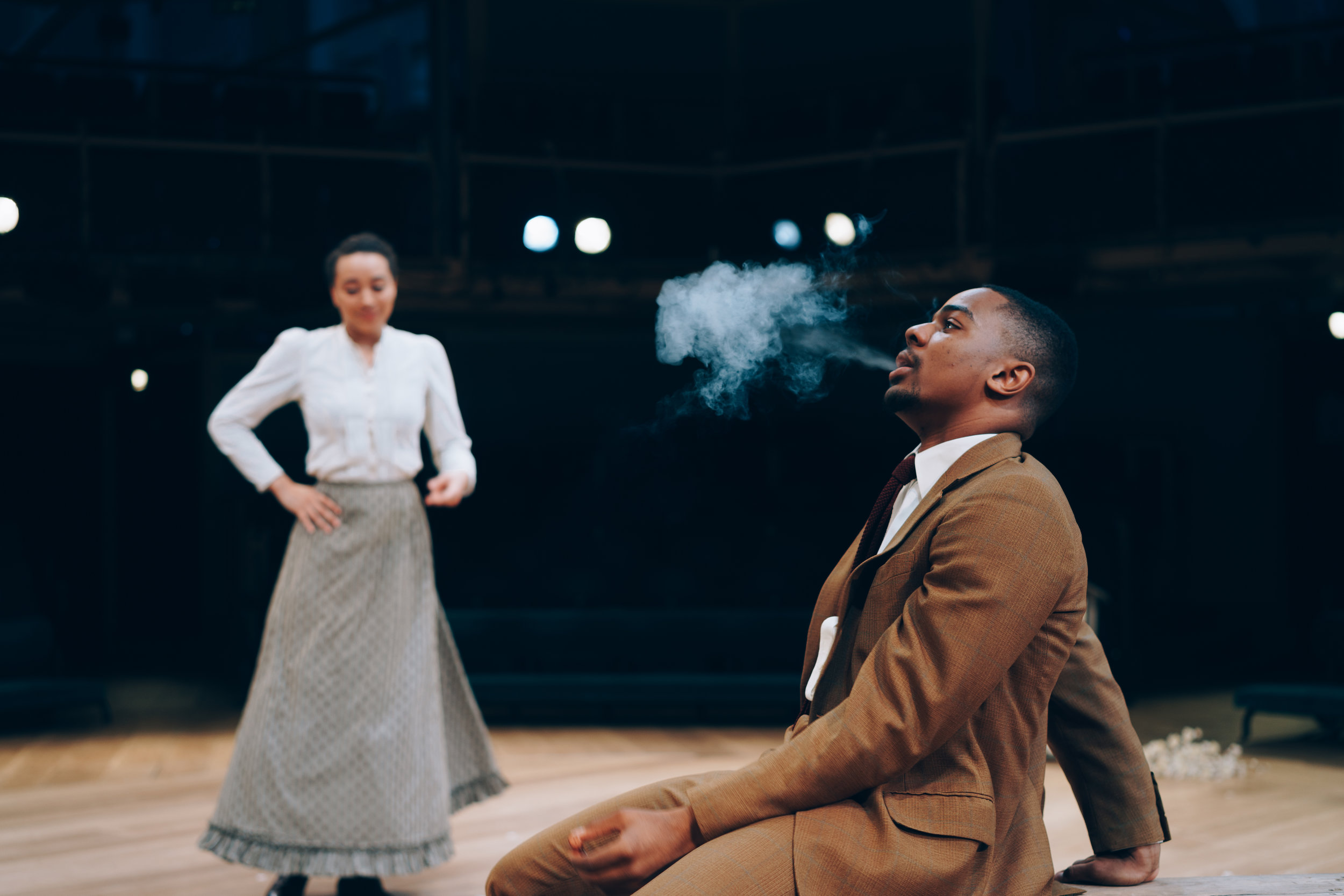 Royal Exchange Theatre - Emma Naomi (Dunyasha) - The Cherry Orchard. Image by Liam Bennett.jpg