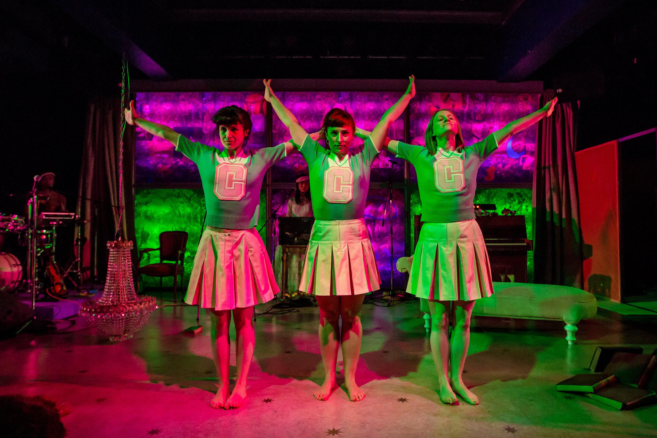 Becky Wilkie (Irena), Abbi Greenland (Masha), Helen Goalen (Olga) in 3 SISTERS BY RASHDASH Photo Richard Davenport.JPG
