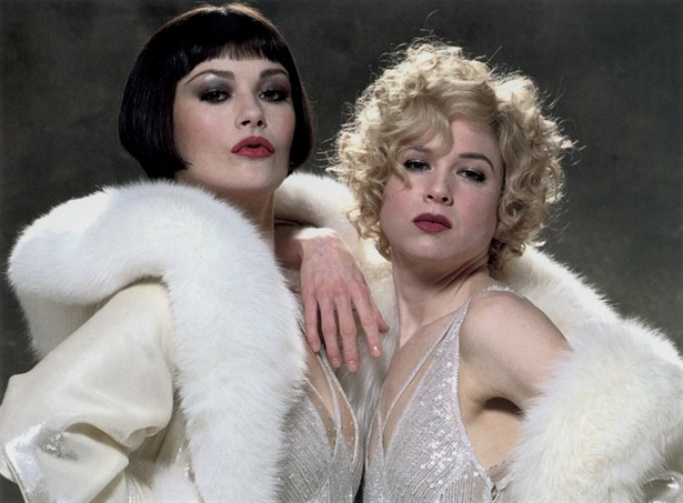 Jones and Zellweger as Velma and Roxie in  Chicago.