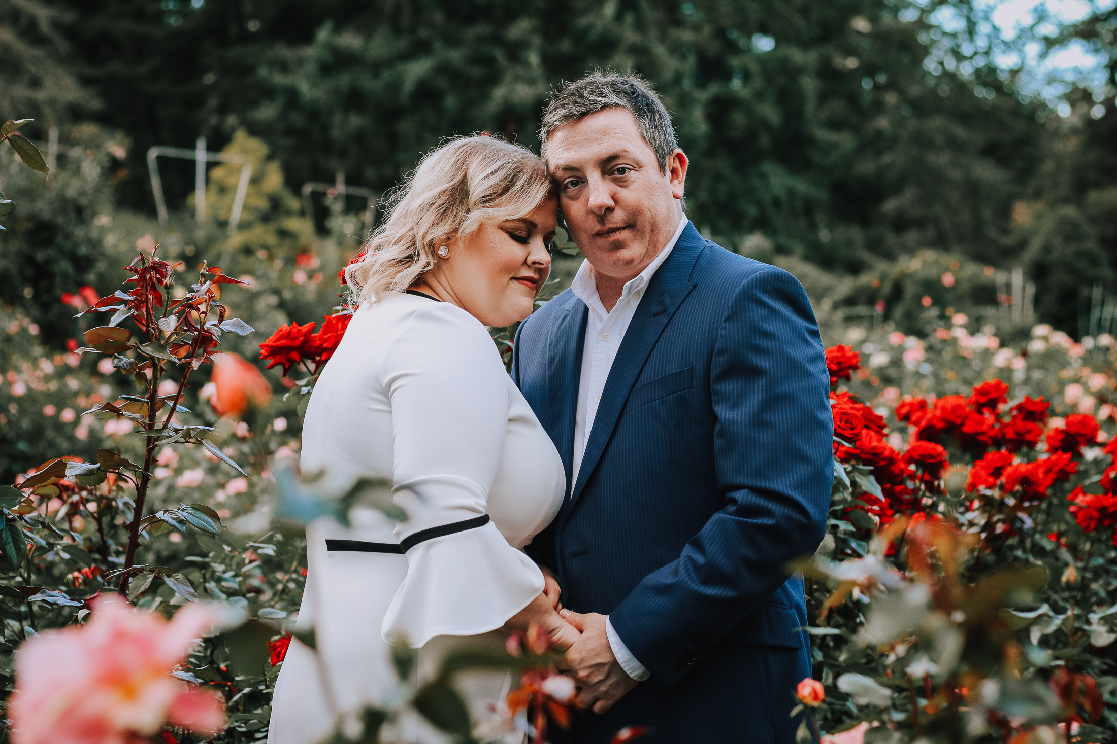 Stacy + Colby - A Portland Rose Garden Engagement