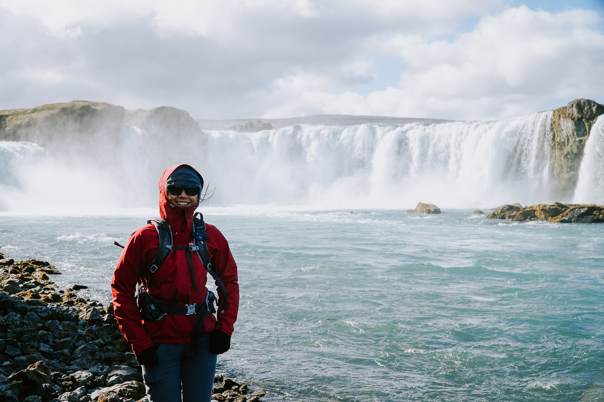 Me in front of Godafoss Waterfal