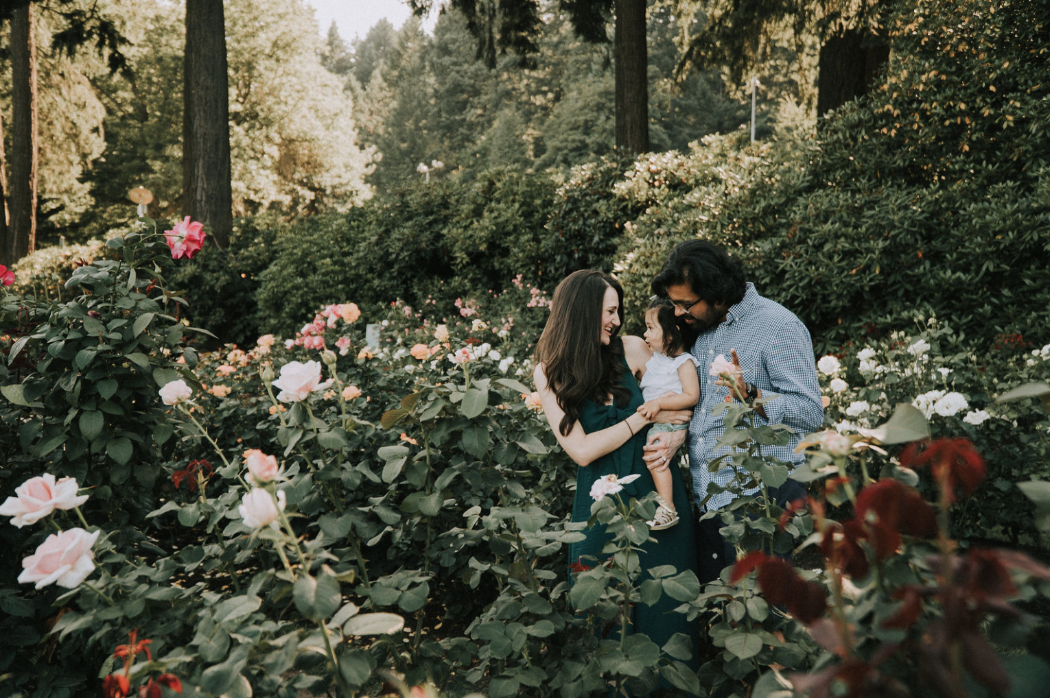 Portland International Rose Test Garden Family Photography Session