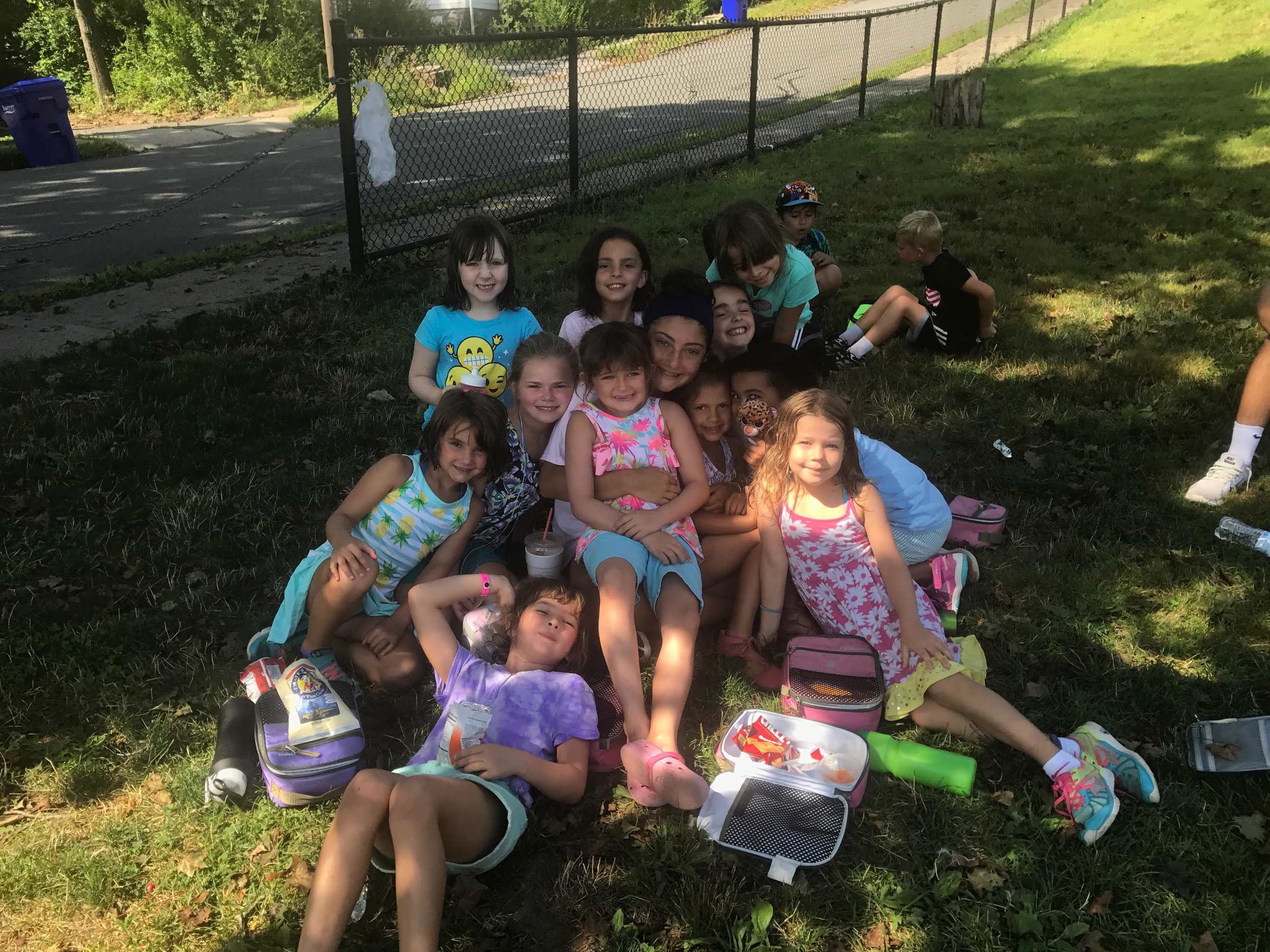 Picnic lunch at the Boys and Girls Club of Assabet Valley