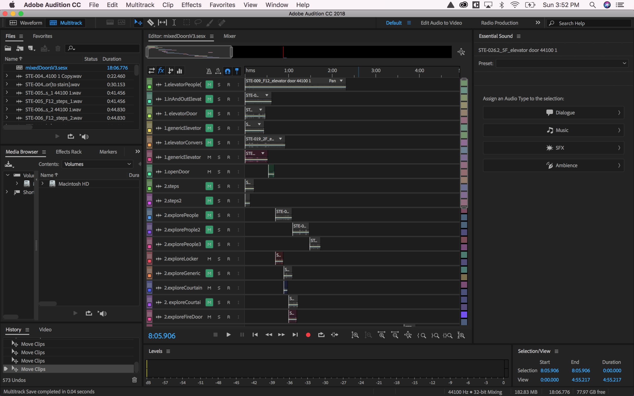 Using the emotions sequence to organize our clips