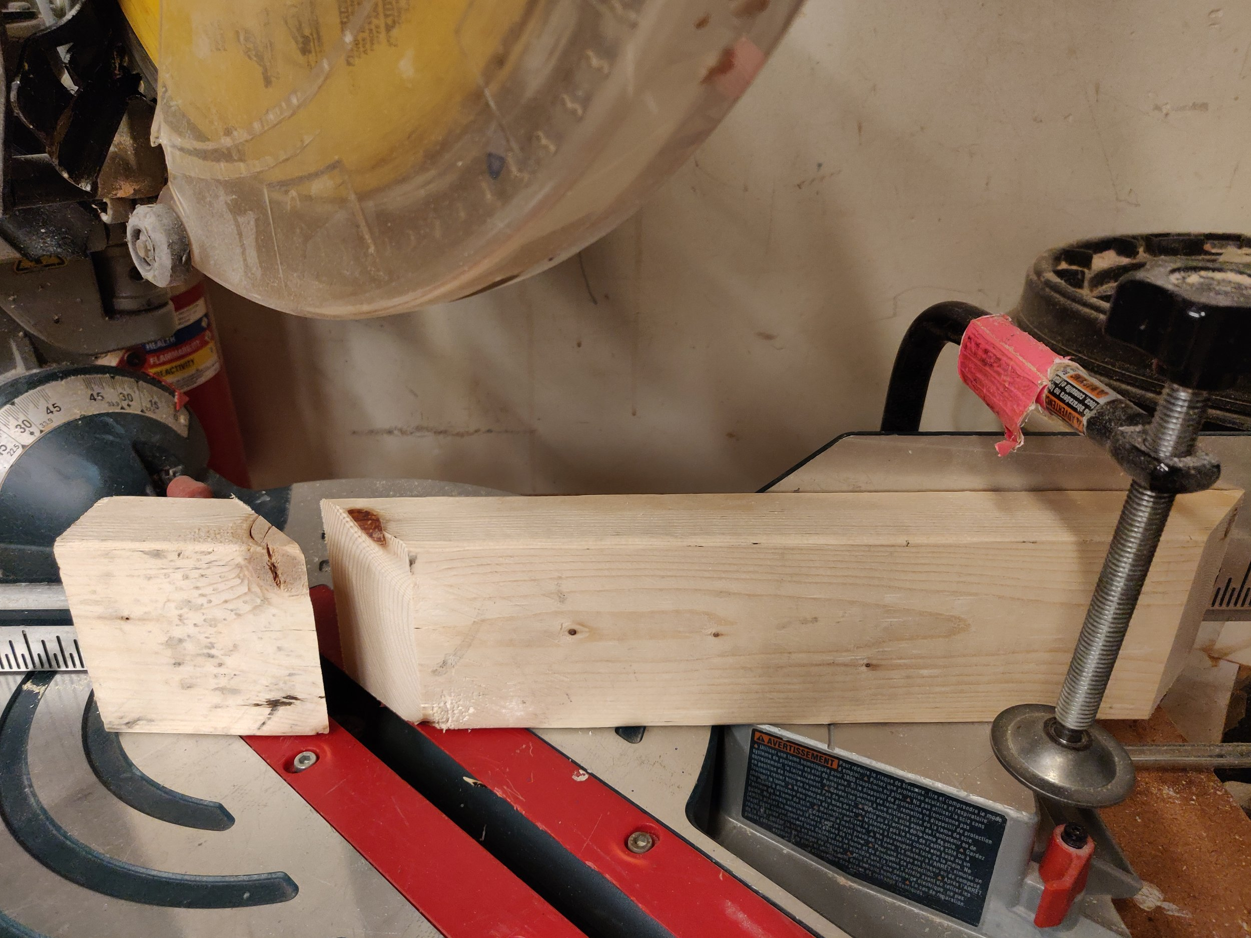 Cutting the wooden frame