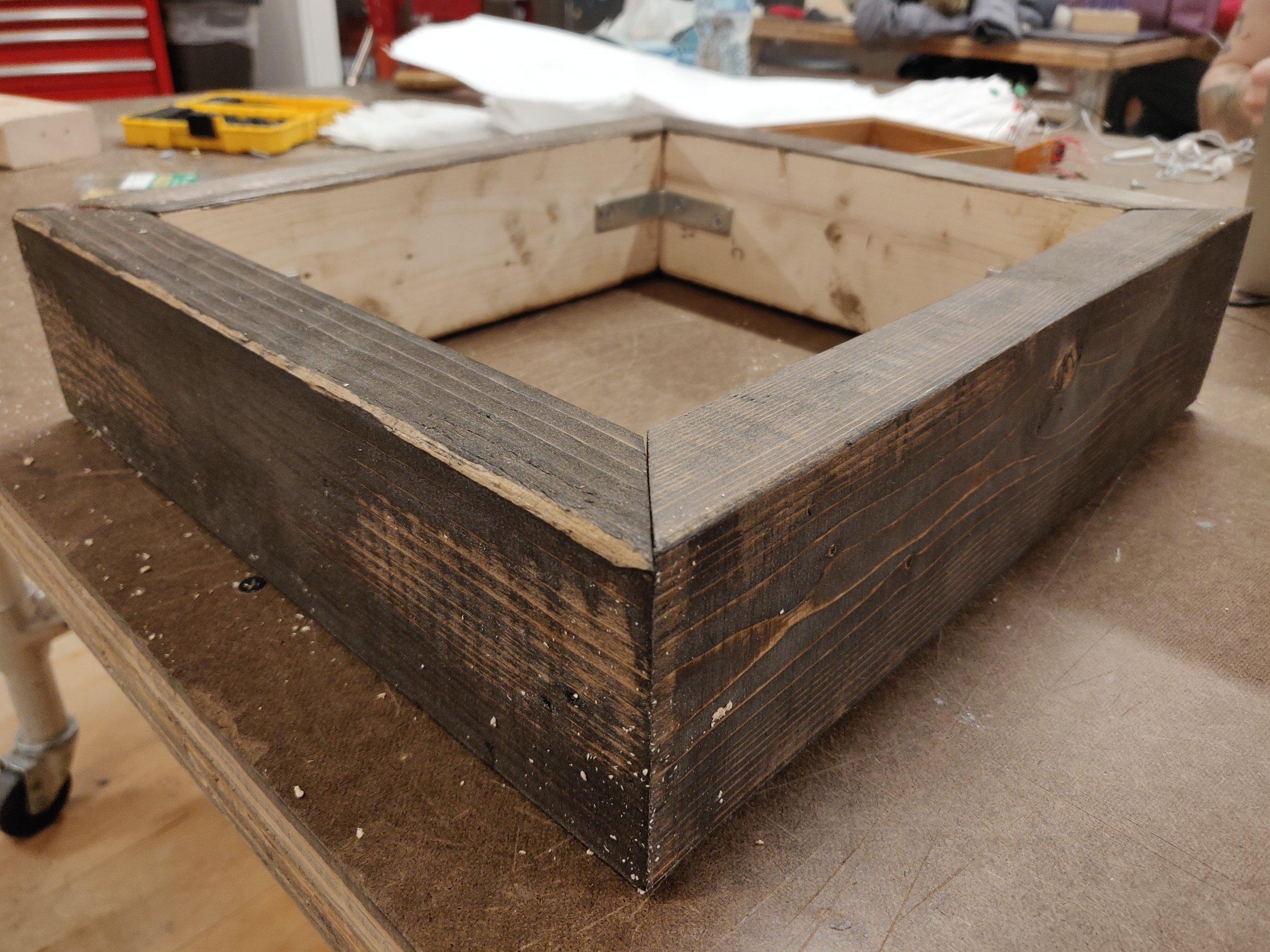 Finalized wooden frame