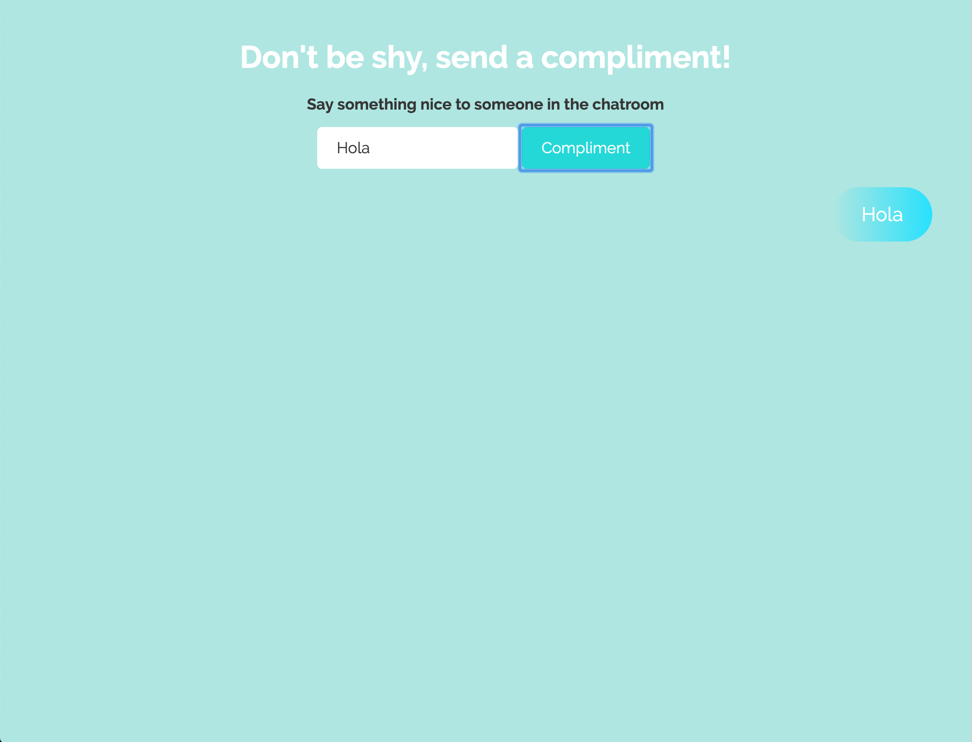 Test 1: Make the sent message visible