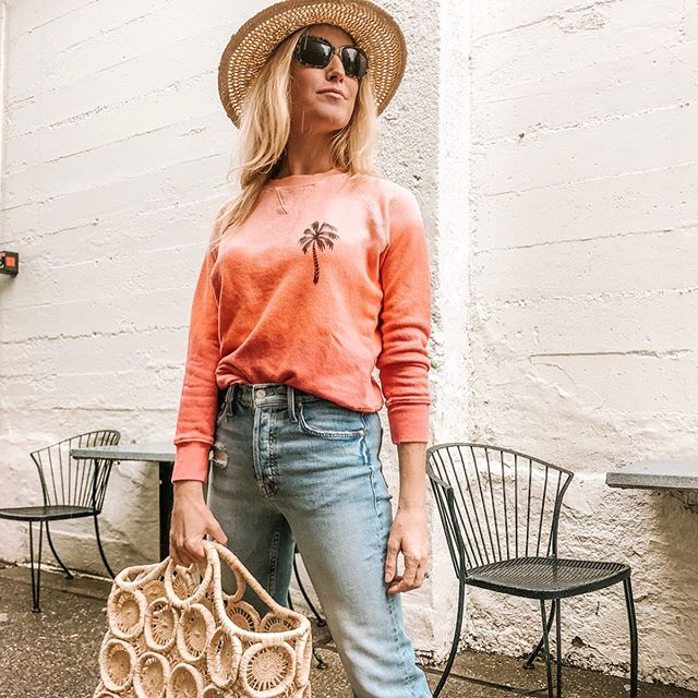 This right here is the look of a long weekend🌴 Who's excited? 🙋♀️ @motherdenim