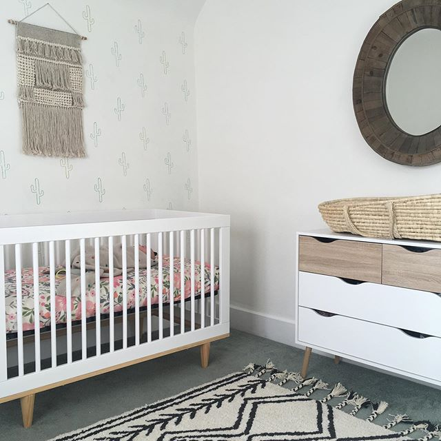 It literally feels like I decorated this nursery for my daughter, Laney just yesterday . . . . I can't believe I'm now working on another nursery design for another baby girl 💗 Is this real life?! . . . . This pregnancy is feeling so real and I suddenly feel very aware of the fact that my days with my two littles are about to drastically change . . . . These days we are trying to slow down and enjoy being together. I feel thankful for this new awareness and the sweet moments I've been soaking up with Oliver and Laney . . . . We all can't wait to meet you, baby girl ❤️