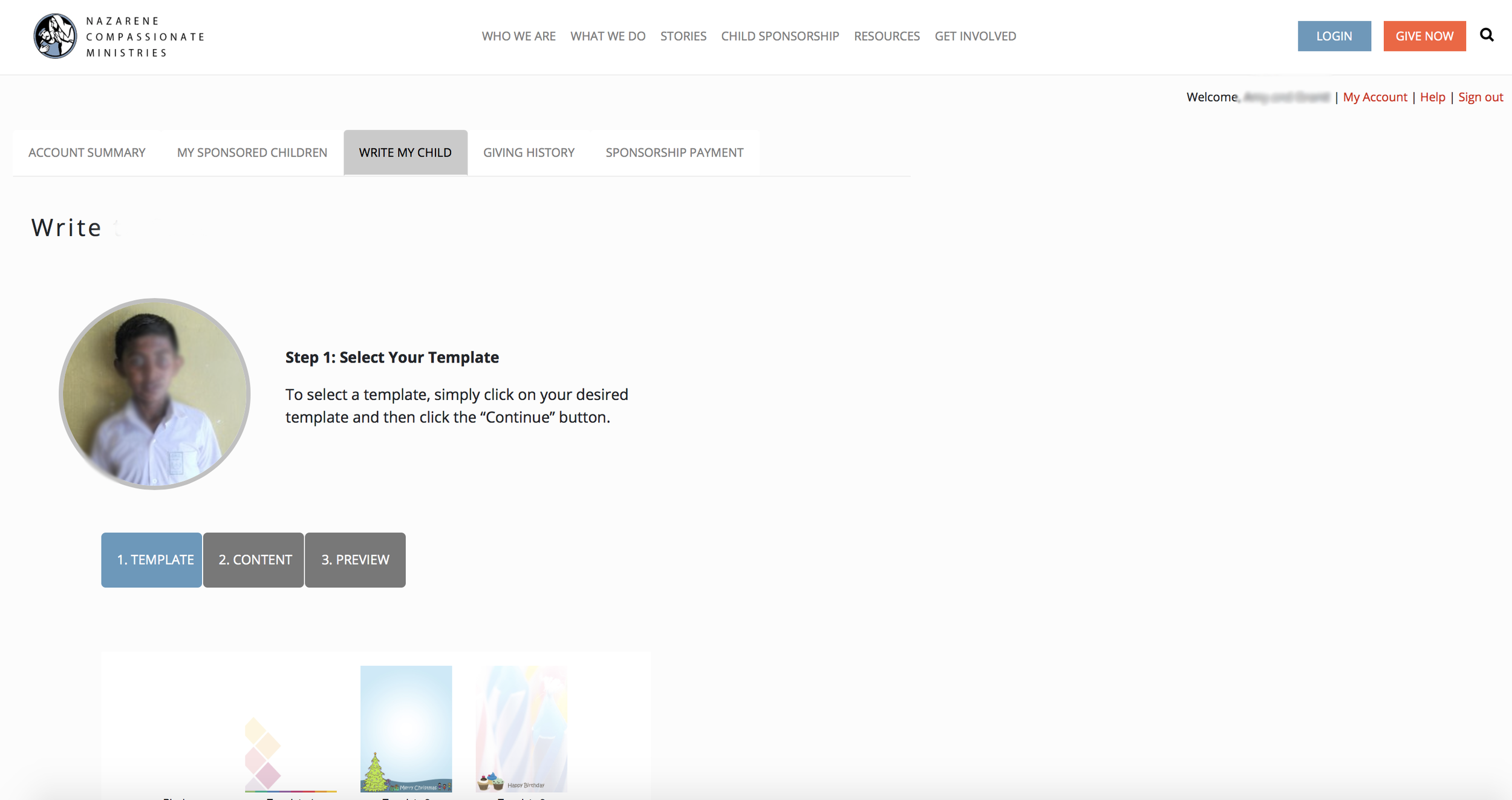 Step 5: Select a template - Scroll down to see all the options!