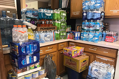 Donations for flood victims at Fremont Church of the Nazarene