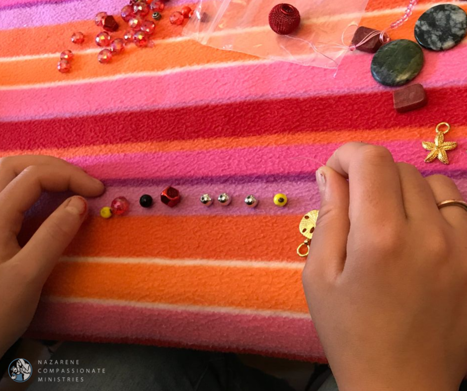 Residents learn to make jewelry and other crafts