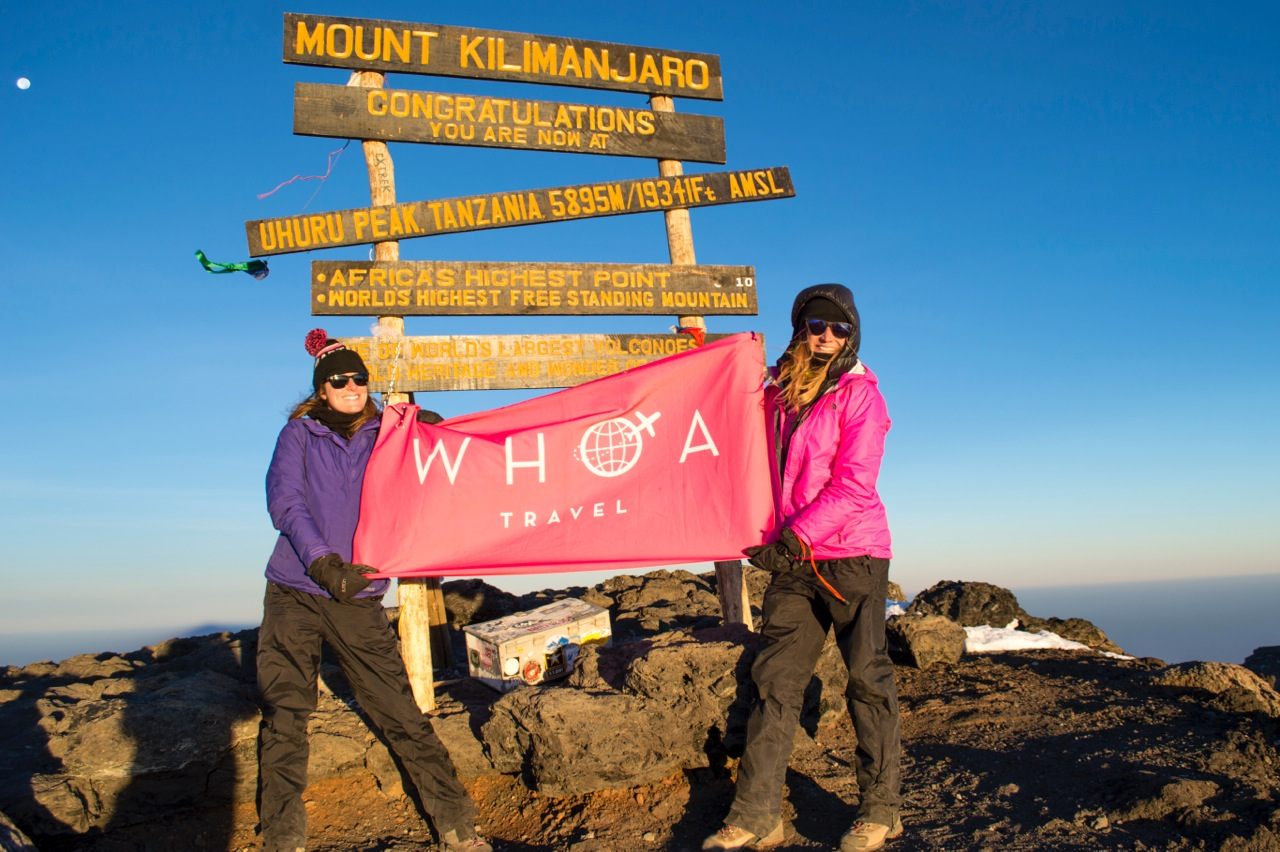 Danielle and Allison at the summit of Kilimanjaro