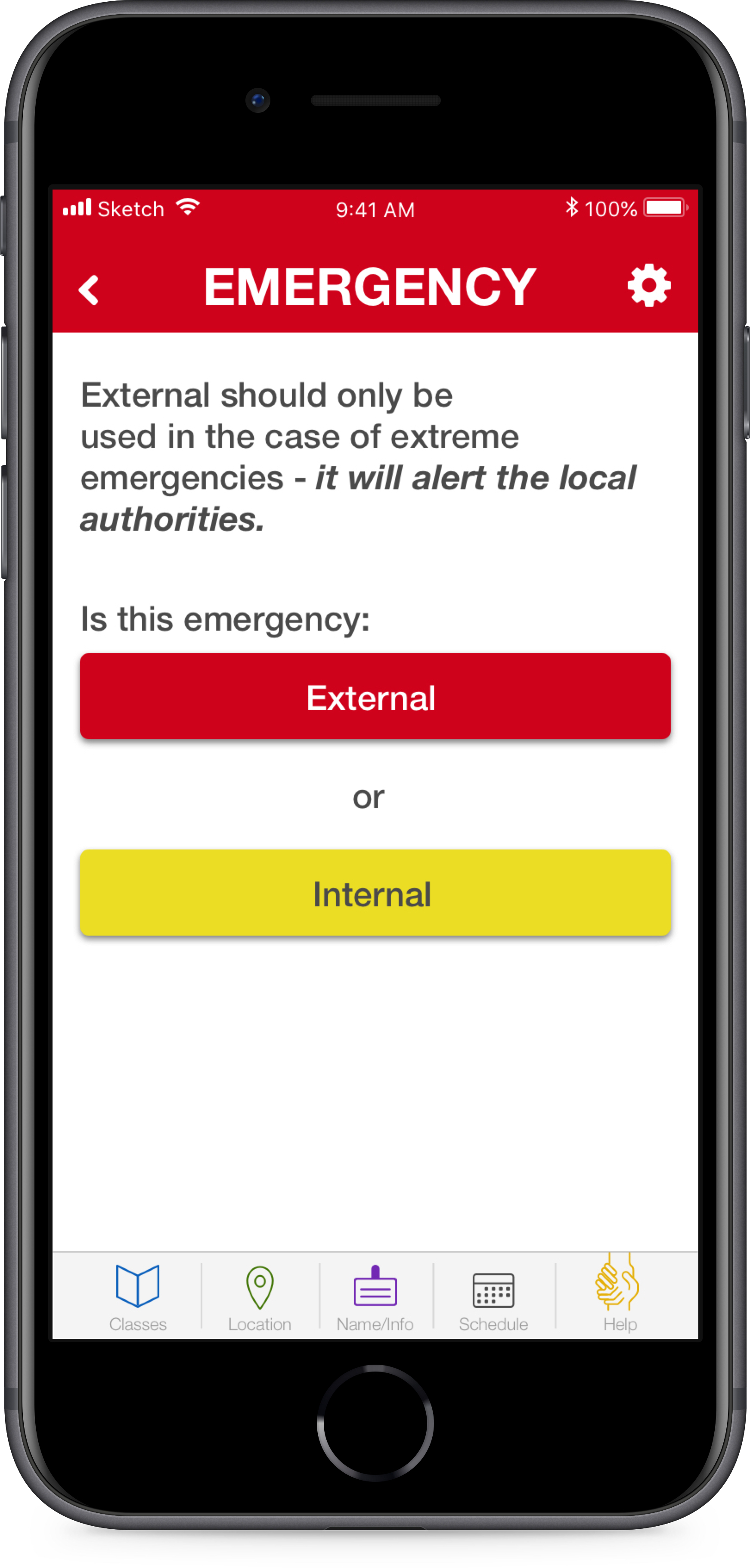 """Unfortunately,  school shootings in the USA are an epidemic . The emergency button would allow any user to alert authorities immediately. Additionally, it would alert all other users of the emergency immediately and silently, to avoid the PA system """"lockdown,"""" that's currently in place.  This has the potential to speed up response times and save lives ."""