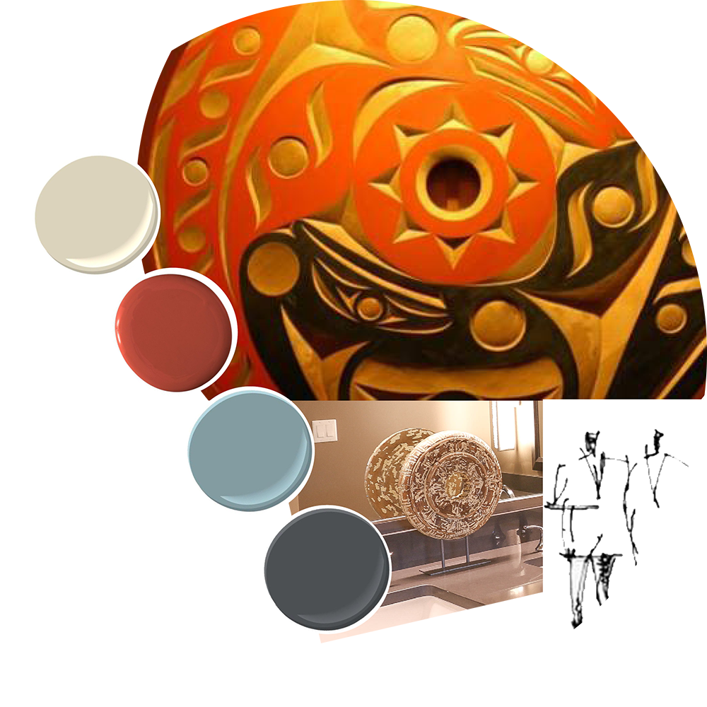 KMB's team found color and finish inspiration in the Squaxin Island Tribe's heritage and rich art