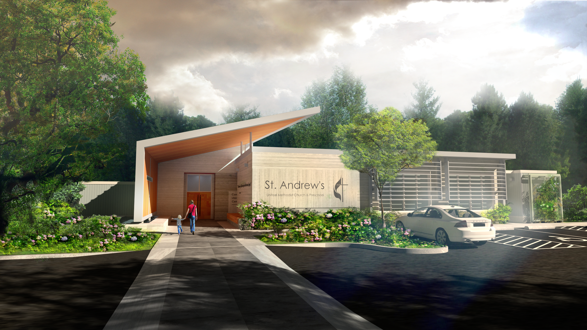 Exterior renderings for the proposed project designed by KMB architects.