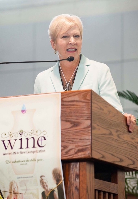 Judy speaking at the Women In The New Evangelization Conference (W.I.N.E.) in New Orleans
