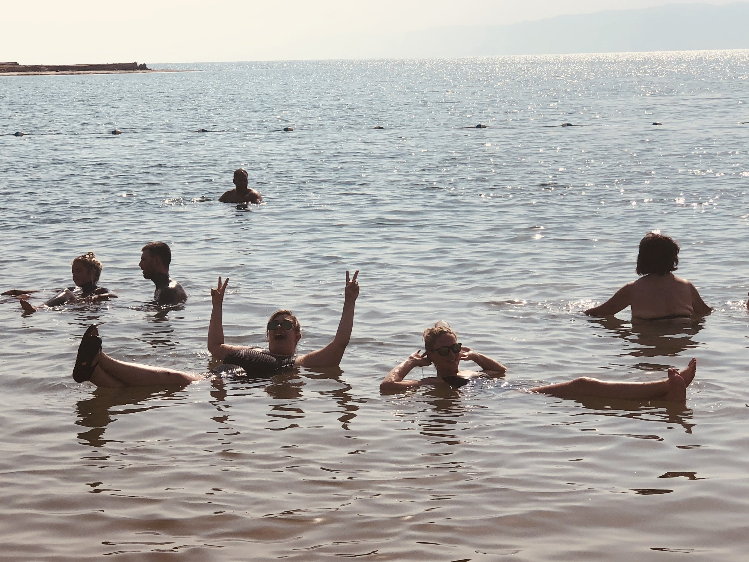 Floating away my troubles in the Dead Sea