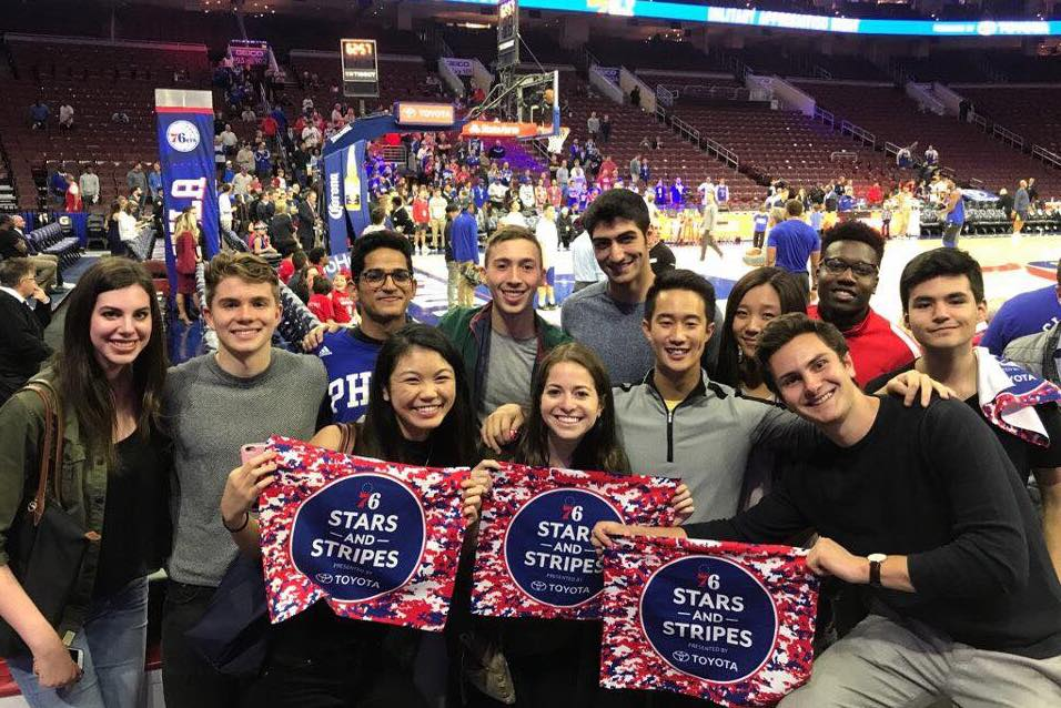 SOCIAL - Finally, you'll get to meet and bond with upperclassmen in the MUSE network. This past semester's highlight was box seats for a Philadelphia 76ers game!