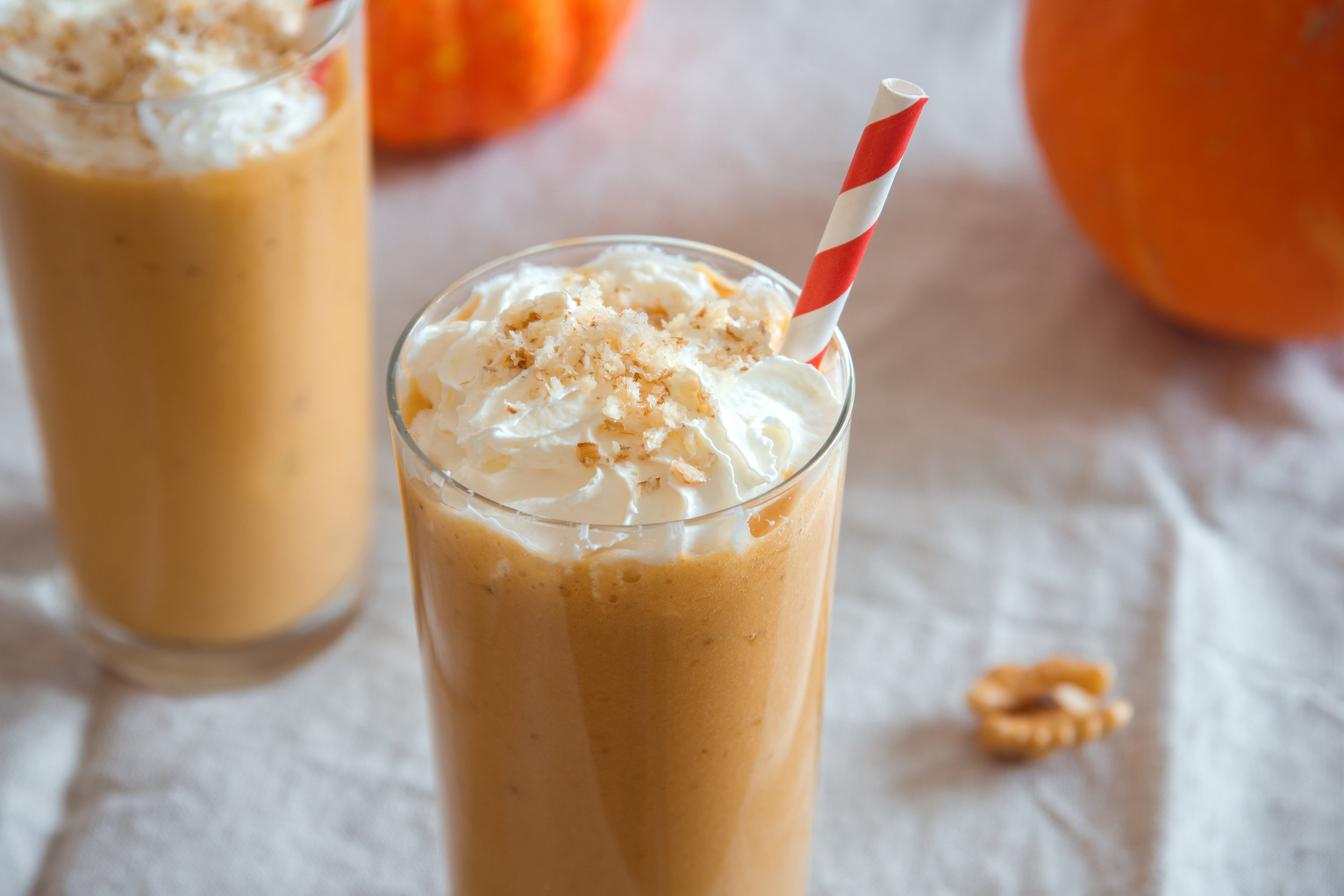 Are you a breastfeeding mama looking to celebrate the pumpkin spice season with an easy recipe to help boost your milk supply? Well, this simple, dairy-free lactation smoothie is the answer. Packed with lactogenic ingredients such as pumpkins, dates, carrots, cinnamon, & coconut milk; this super food smoothie is not only healthy, but helps promote milk supply. Add coffee to make it a delicious latte.   #lactationsmoothie #breastfeedingsmoothie #breastfeeding #pumpkinspice #pumpkinspicesmoothie