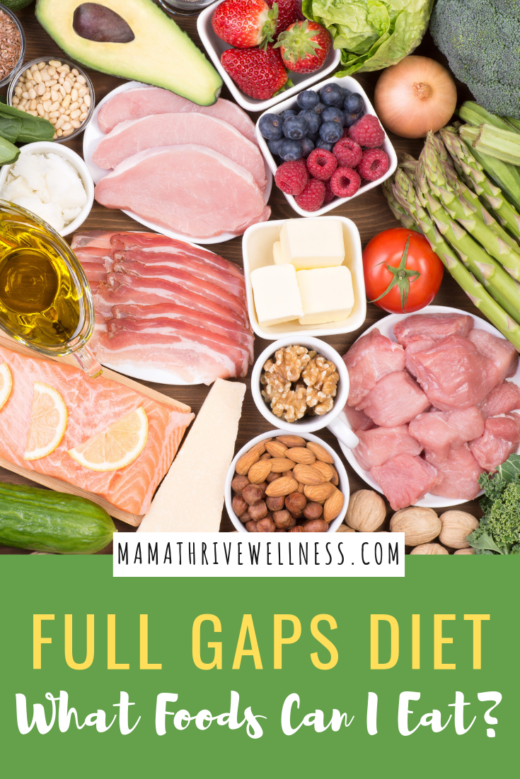 Are you confused about what foods you can eat on the Full GAPS Diet? No worries! Here is a full food list for beginners trying to make sense of what is the GAPS Nutrition Protocol. Have you finished the Intro Diet and want to know how to start? Here is the full diet explained. #gaps #gapsdiet #gapsforbeginners #fullgaps