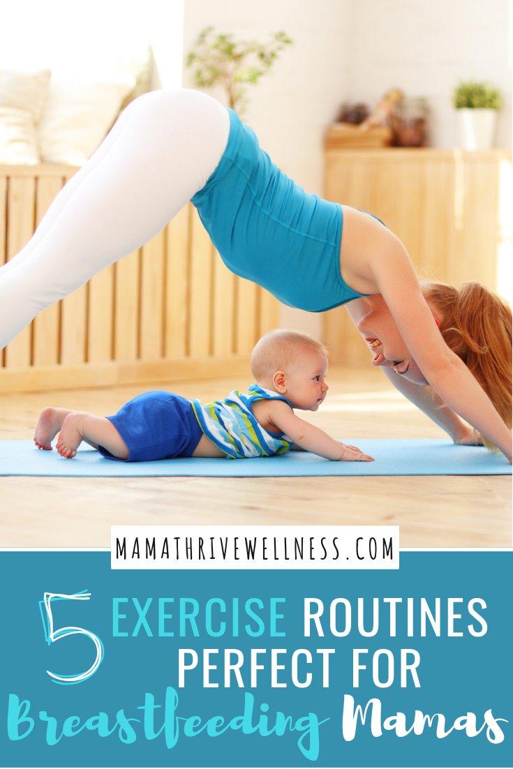 Thinking about getting back into an exercise routine after baby while you're still breastfeeding? Workouts such as yoga, Pilates, swimming, and more are great forms of exercise, especially as a new mom. Plus, they will get you back in shape in no time! Whether you're a fitness enthusiast or just making a life change and looking for a workout guide, these simple exercise tips could change your world. #breastfeeding #postnatalexercise #postpartumworkout #health #fitness #exercise #workout
