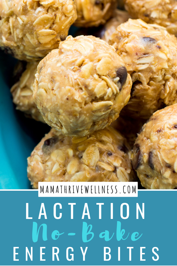 These no-bake lactation energy bites are easy, delicious and super quick to make. Packed with oats, chocolate chips and many lactation boosting ingredients like Brewers Yeast, it makes for the perfect snack to have on hand as a nursing mama. Whether you eat it for dessert, a snack or even your main meal, this is the perfect treat to help boost your milk supply. See the recipe here. #breastfeeding #NoBakeEnergyBites #LactationEnergyBites #LactationSnacks #BoostMilkSupply