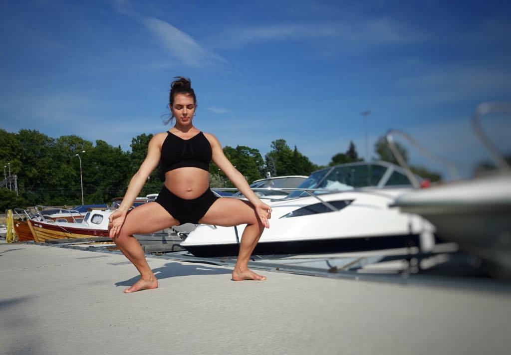 Goddess pose -