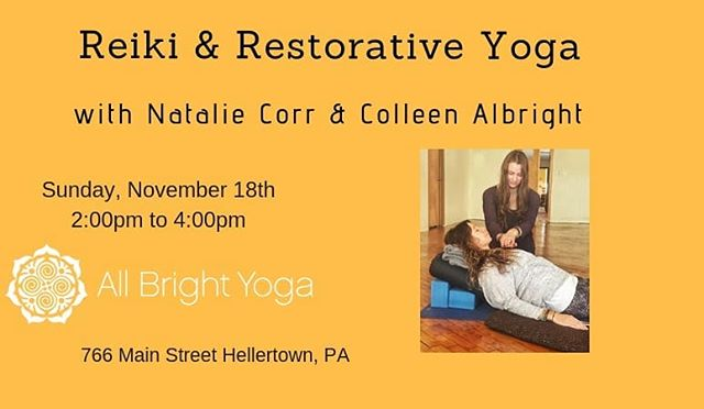 Only 3 spots left.  Join @jaigurudeva_  and @cpcrowley007 for our class on Sunday. Register on line at www.all-brightyoga.com