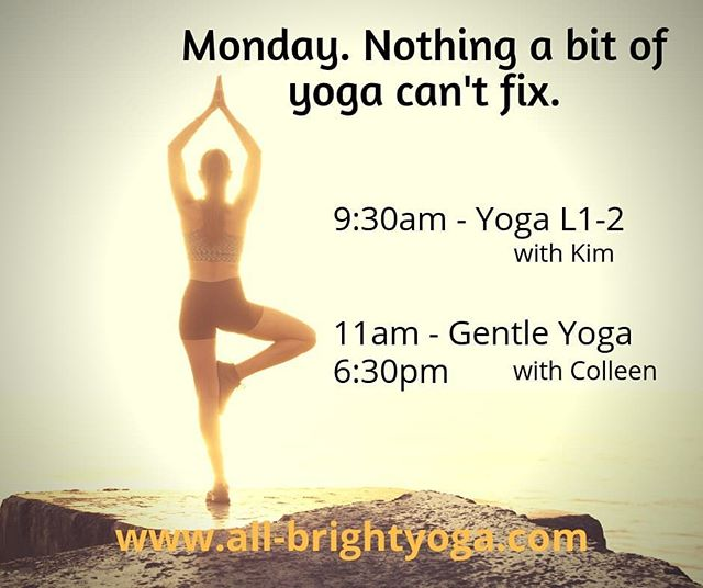 The holidays are over.  Avoid the January blues with some Yoga!!