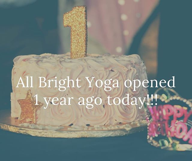 All Bright Yoga opened for business on 1/6/2018.  THANK YOU for being a part of our community in 2018.  Stay tuned for the transformations to come.  2019 is going to be awesome!!!